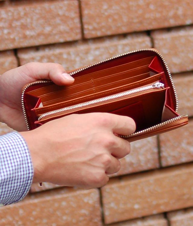 Men's Round Fastener Wallet