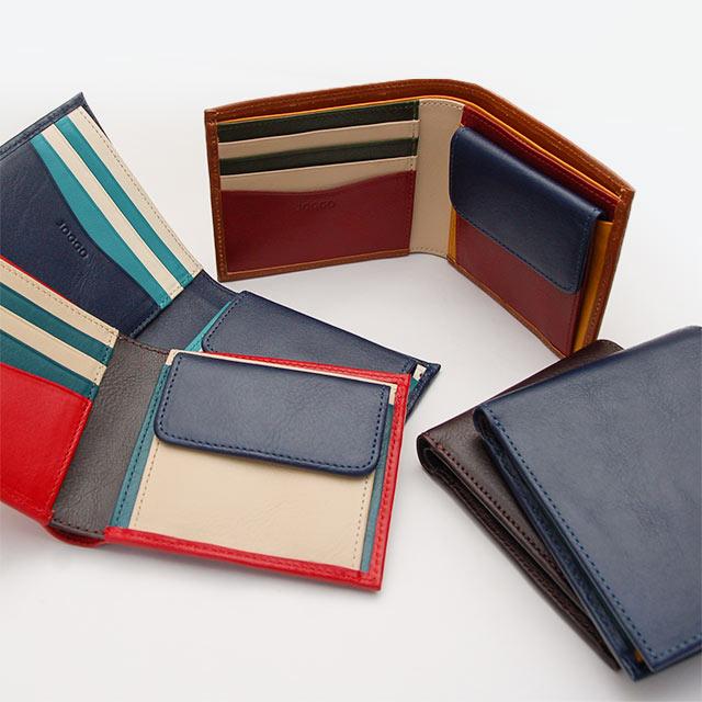 JOGGO 本革二つ折り財布(メンズ・レディース兼用)