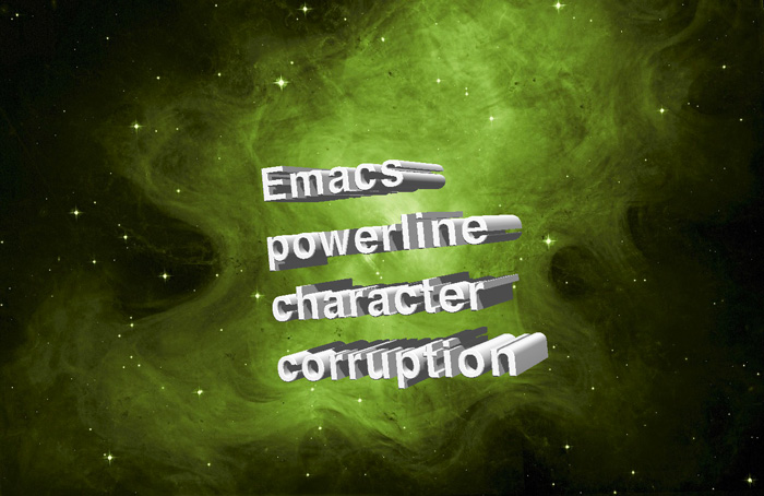Fix emacs powerline character gets corruption(mojibake) on Mac