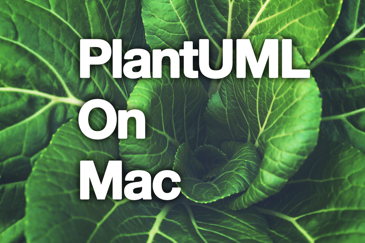 Build PlantUML environment on Mac using brew – joppot