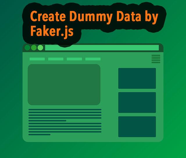 React creates dummy data using Faker js – joppot