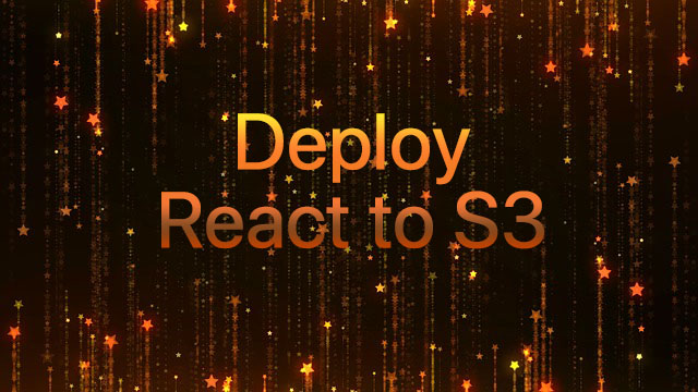 Deploy React to s3 with aws command – joppot