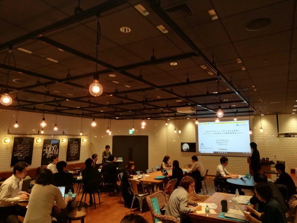 kintoneとチャットが繋がる世界!スケジュール計画からの効果的な業務管理セミナー開催レポート