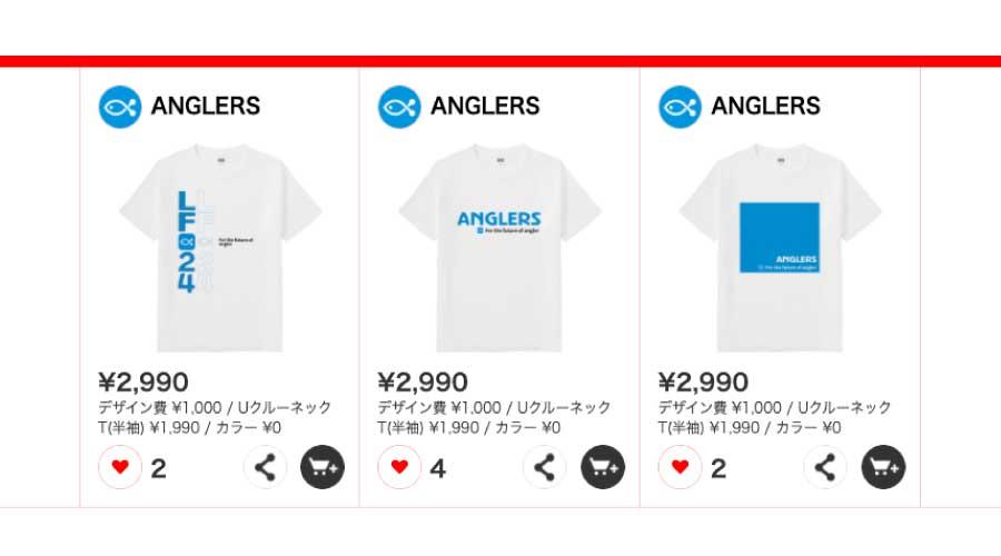 アングラーズ Tシャツ