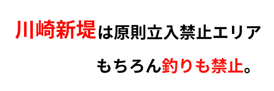 川崎新堤釣り禁止