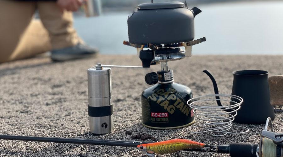 釣り中に小休止