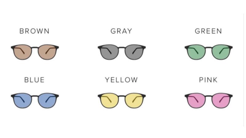レンズカラーの種類
