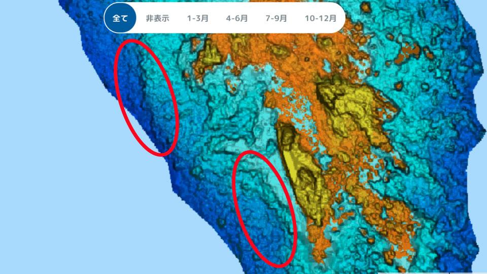 三ツ石の水中岬
