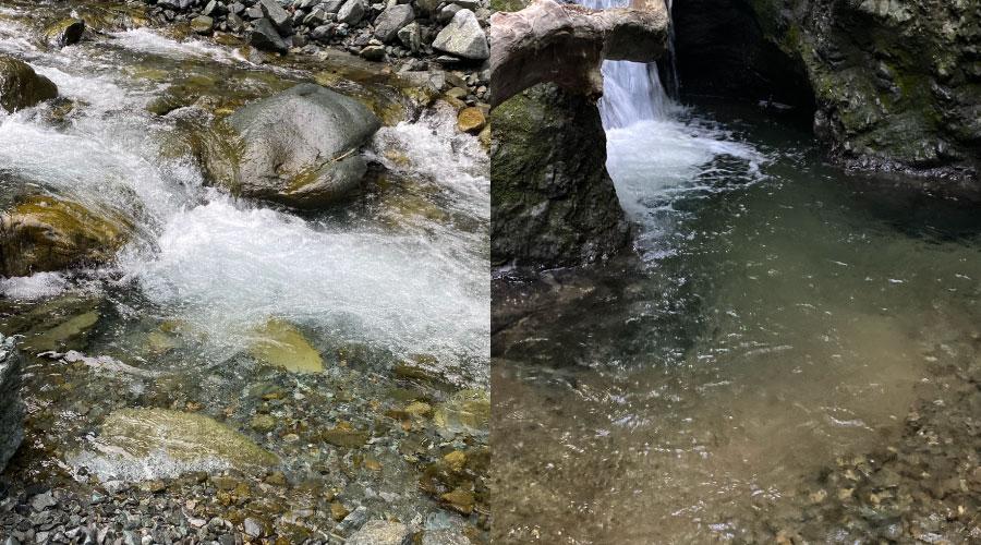 足場の悪い渓流