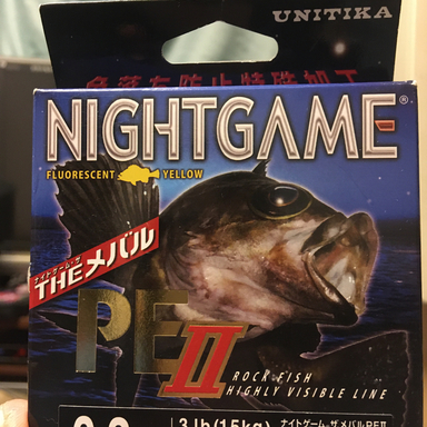 UNITIKA NIGHT GAME THE メバル PE 3lb. 0.3号