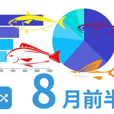 ANGLERSだからできるデータ満載!8月前半に釣れた魚は。