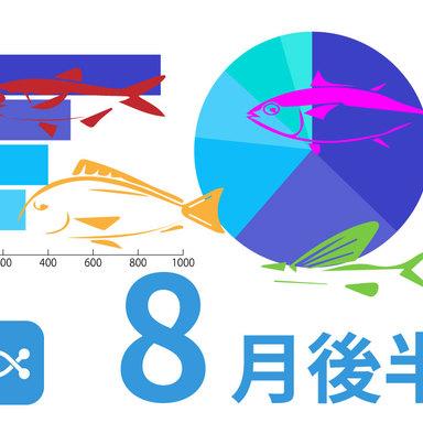 ANGLERSだからできるデータ満載!8月後半に釣れた魚は。