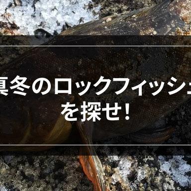 【ロックフィッシュ】大型アイナメは、冬こそチャンス!