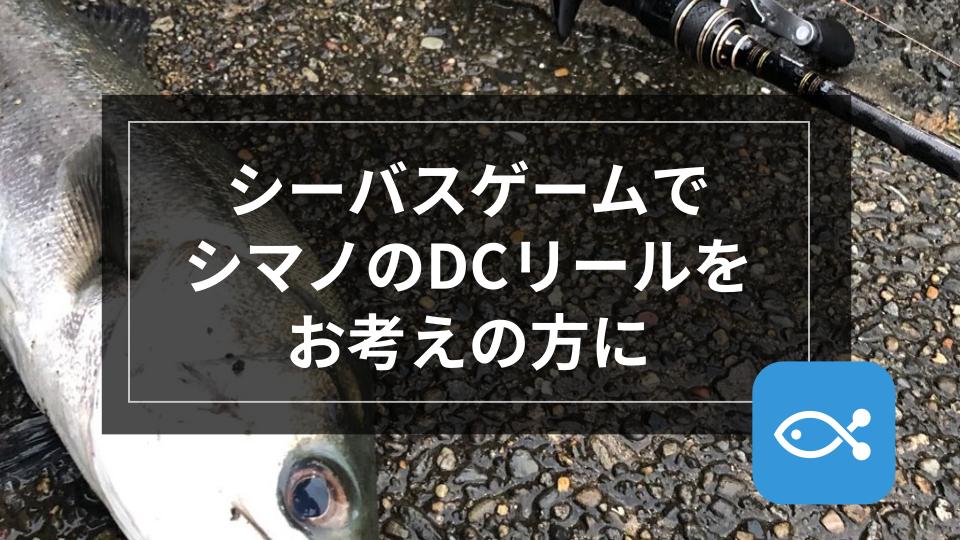 【シーバス】シーバスゲームにシマノのDCリールをお考えの方に