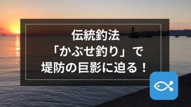 【伝統釣法】「かぶせ釣り」で堤防の巨影に迫る