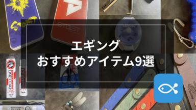 【エギング】初心者エギンガー必見!〜オススメアイテム9選〜