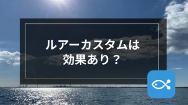【オフショア】ルアーカスタムは効果あり?