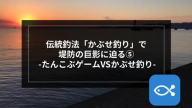【伝統釣法】かぶせ釣りで堤防の巨影に迫る⑤ -たんこぶゲームVSかぶせ釣り-