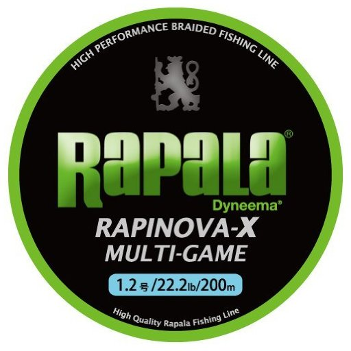 ラパラ RAPINOVA-X MULTI-GAME LIMEGREEN 0.4号/8.8Lb