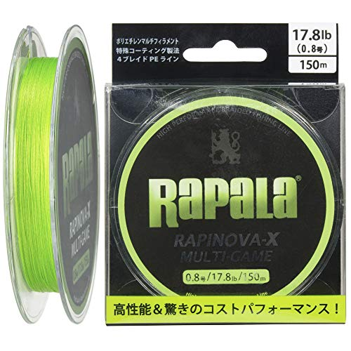 ラパラ RAPINOVA-X MULTI-GAME LIMEGREEN 0.8号/17.8Lb