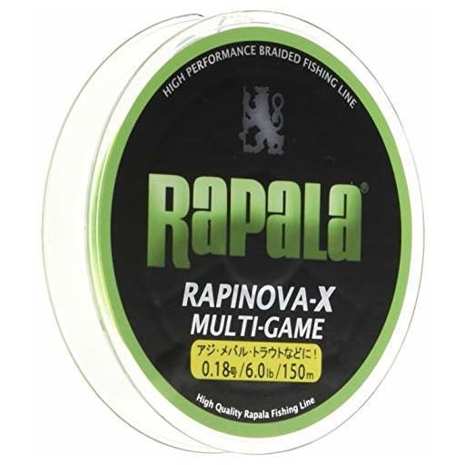 ラパラ RAPINOVA-X MULTI-GAME LIMEGREEN 1.0号/20.8Lb