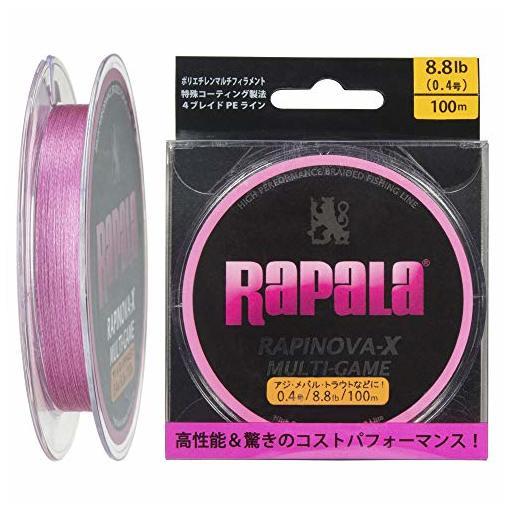 ラパラ RAPINOVA-X MULTI-GAME PINK 0.4号/8.8Lb