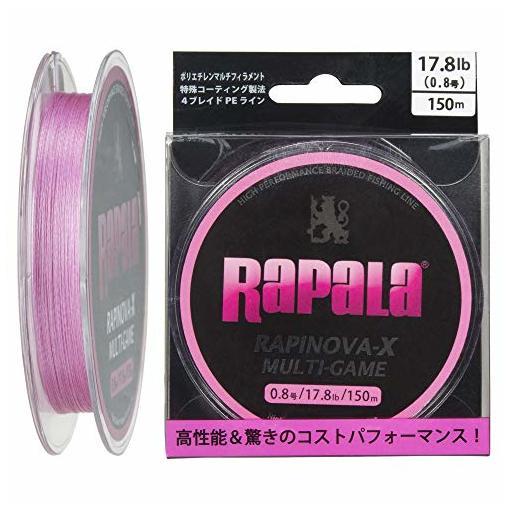 ラパラ RAPINOVA-X MULTI-GAME PINK 0.8号/17.8Lb