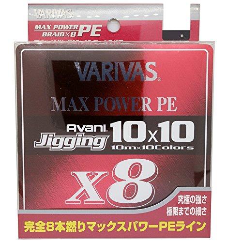 バリバス ジギング10×10 マックスパワーPE 1.2号