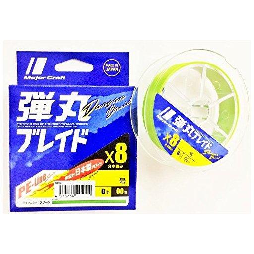 メジャークラフト 弾丸ブレイド8本編み GREEN/0.6号/14lb