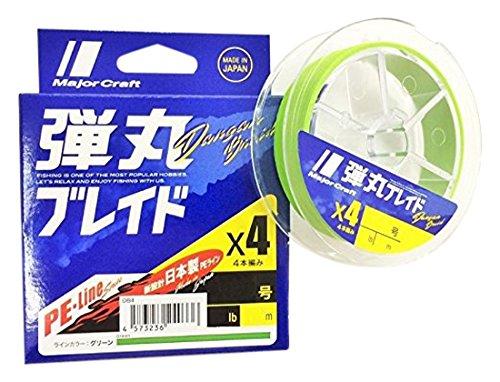 メジャークラフト 弾丸ブレイド4本編み GREEN/0.8号/14lb