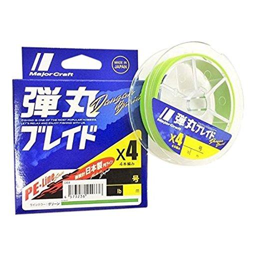 Major Craft 弾丸ブレイド×4 GREEN/0.8号/14lb