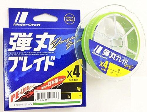 メジャークラフト 弾丸ブレイド4本編み GREEN/1.5号/25lb