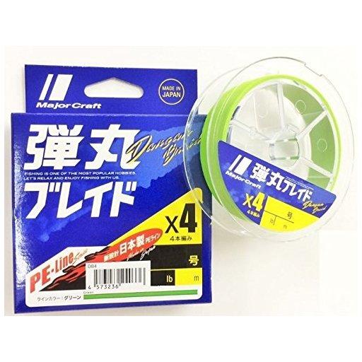 Major Craft 弾丸ブレイド×4 GREEN/1.5号/25lb