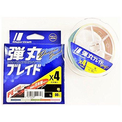 メジャークラフト 弾丸ブレイド4本編み MULTI/3.0号/40lb
