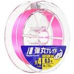 メジャークラフト 弾丸ブレイド4本編み PINK/0.4号/8.0lb