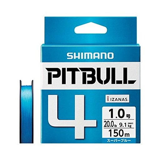 シマノ ピットブル 4 1.0号/20.0lb(スーパーブルー)