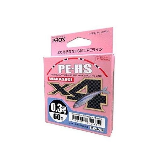 プロックス PE−HSワカサギX4 0.2号/2.9lb/1.3kg
