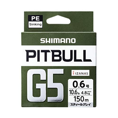 シマノ PITBULL G5 0.8号 スティールグレイ