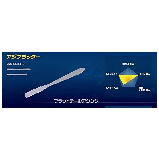 ヤマリア アジフラッター 2.8インチ GKR/G