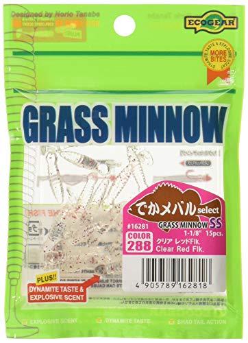 エコギア GRASS MINNOW SS クリア レッド Flk.