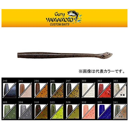 ゲーリーヤマモト ゲーリー4インチカットテールワーム  318 グリーンパンプキン/レッドフレーク