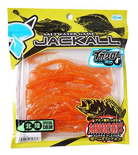 ジャッカル イカクロー 4.0インチ   オーロラ/オレンジ