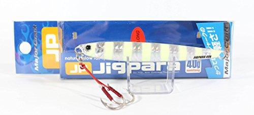 メジャークラフト ジグパラセミロング40g ゼブラグロー