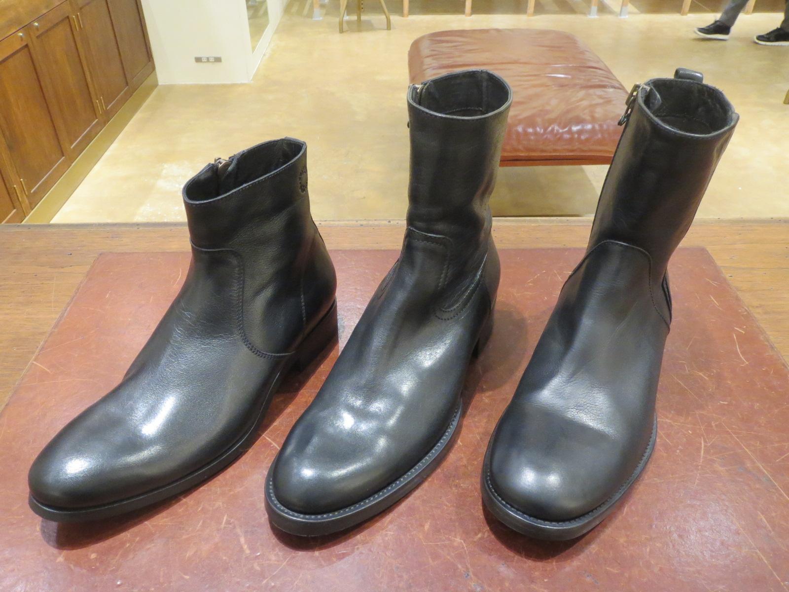 ブーツの種類◆丈の長さ