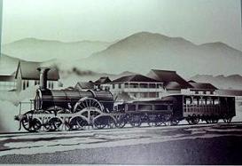グラバーが400mの距離を試運転させた蒸気機関車