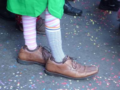パパの靴は、大きすぎるね