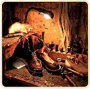 ラッセルモカシンの靴は現在も職人の手で作られている。