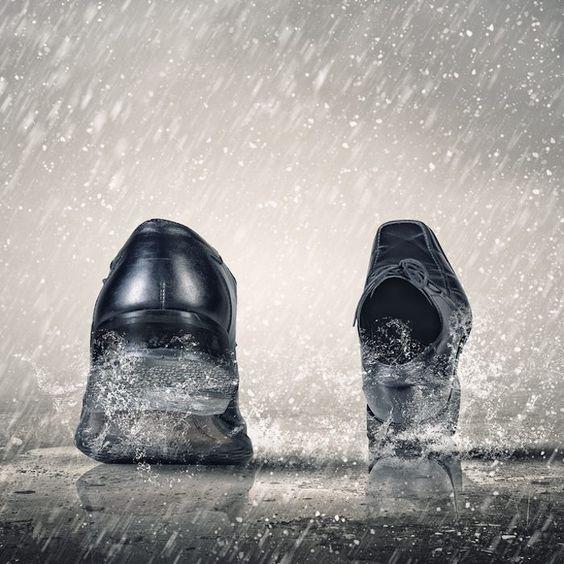 意外と水に強い革靴!