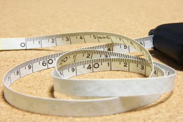 メジャーを使ってサイズを測ろう