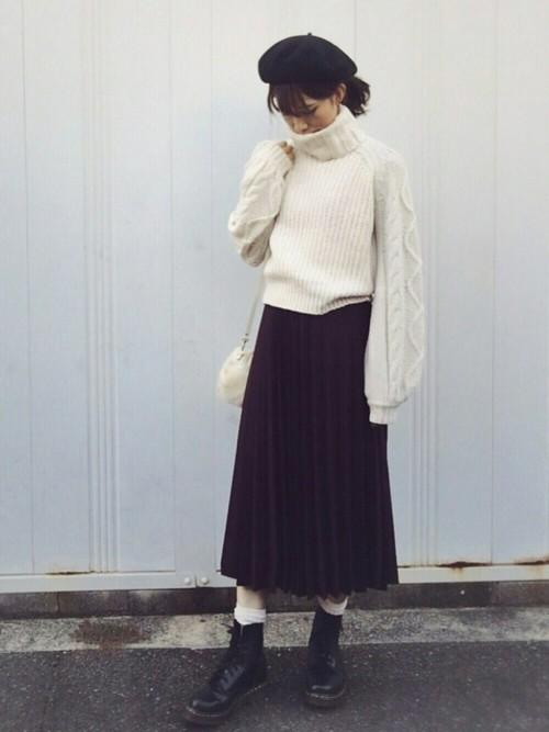 袖の編み目がキュート